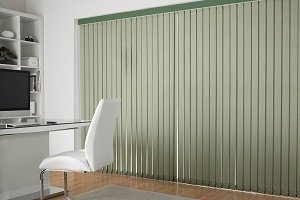 green coloured blinds