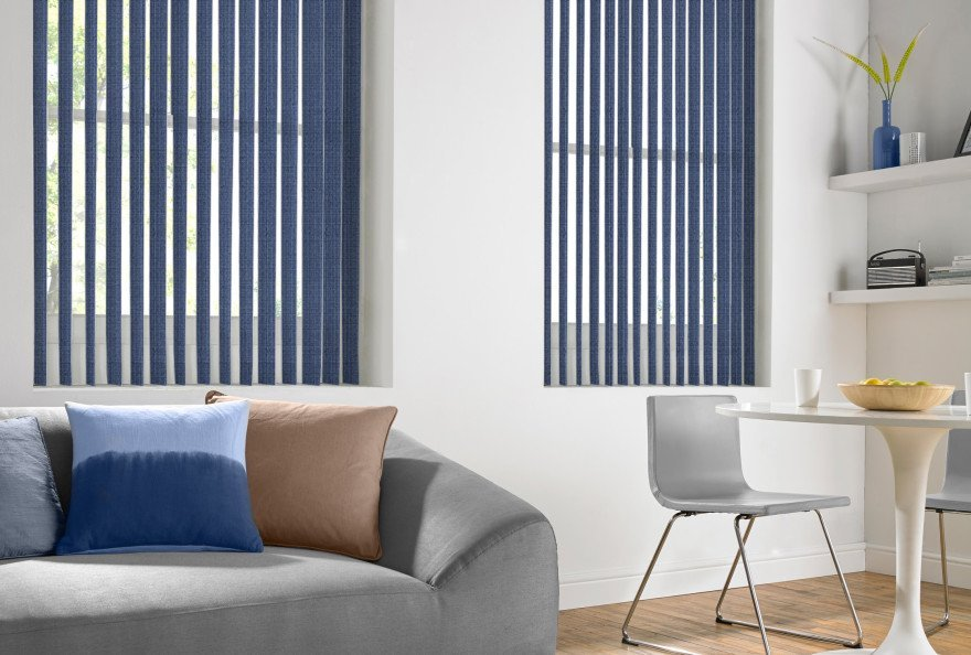 blue coloured blinds