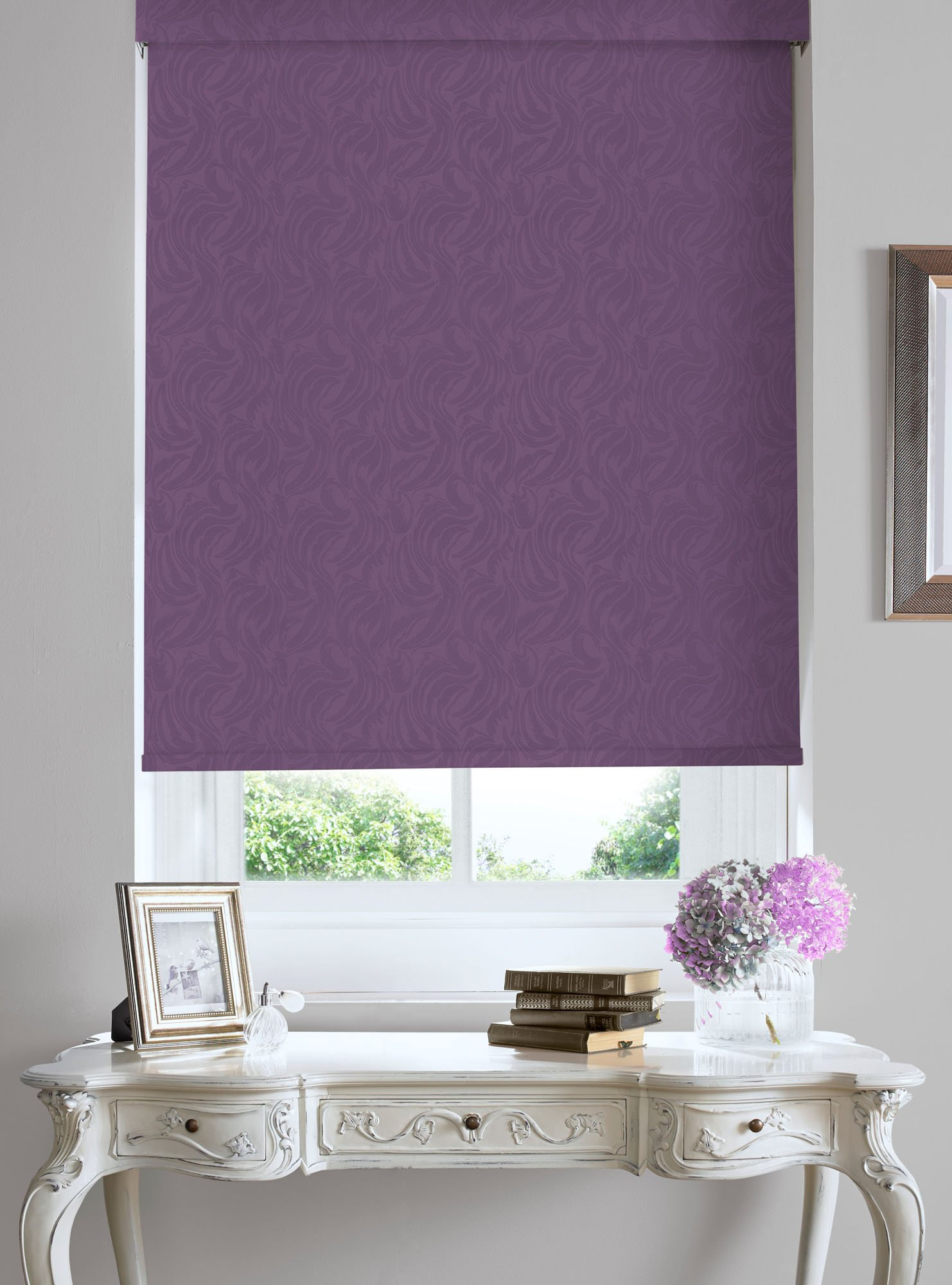 purple blinds