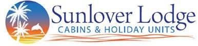 sunlover lodge business logo