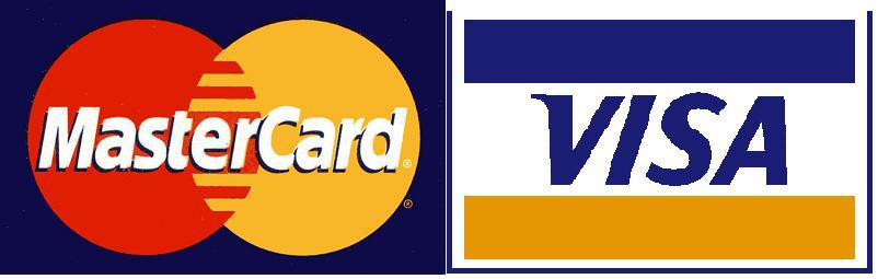 We accept Visa & MasterCard Credit cards