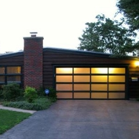 lit garage doors