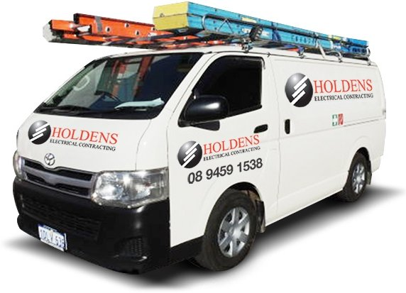 A van used by our commercial electrician in Perth