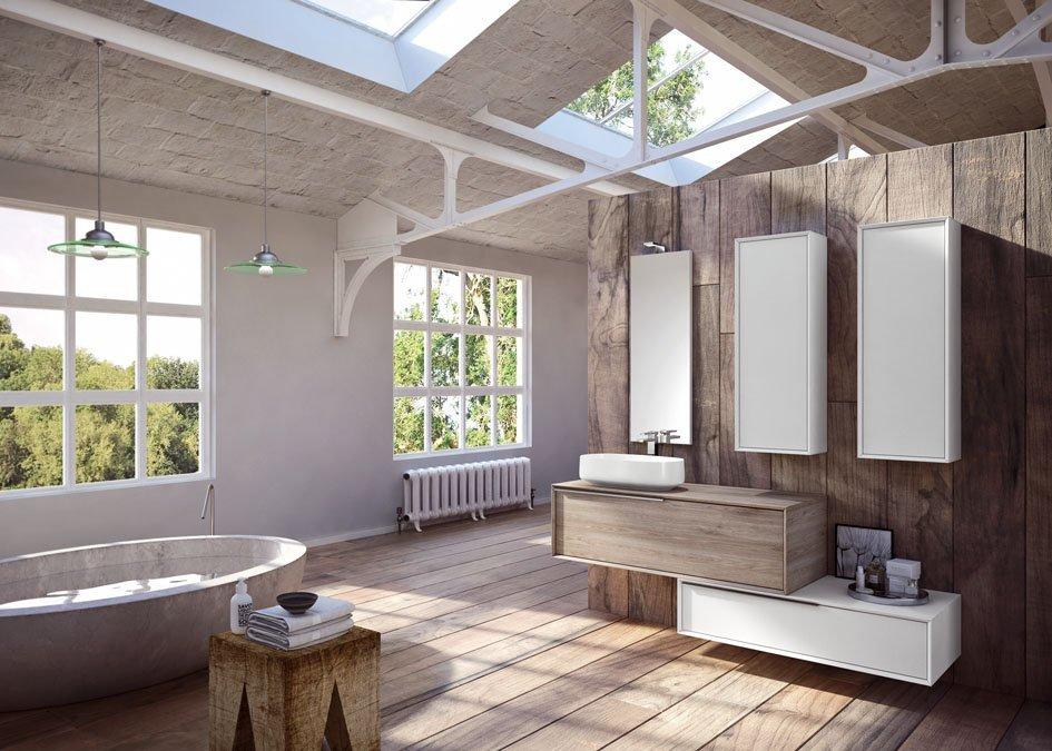 Bagno in legno moderno