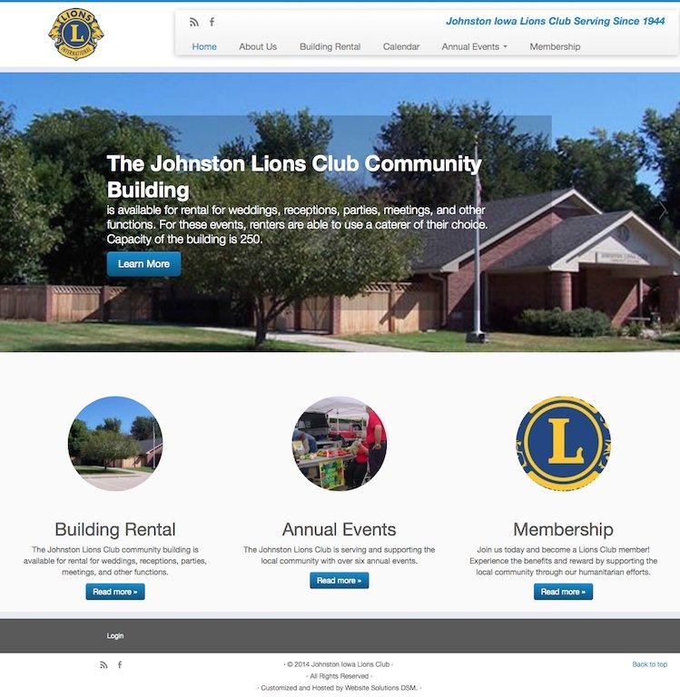 Johnston Iowa Lions Club Website