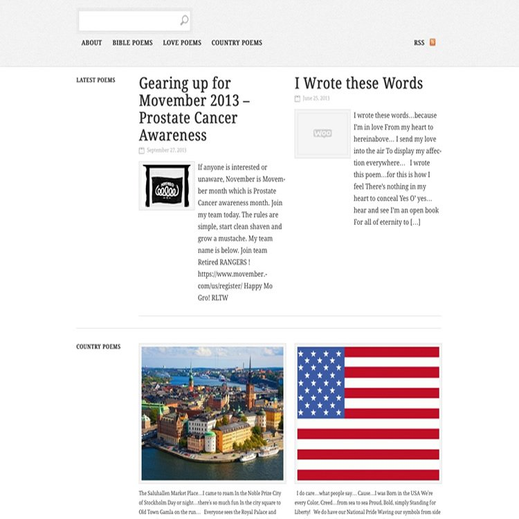 Poet Willworth Wellington's Website