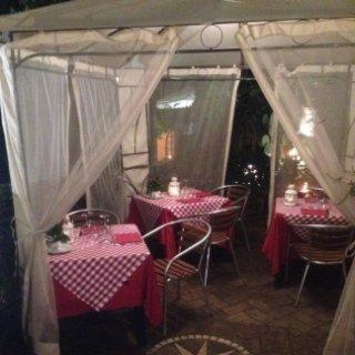 Dettaglio giardino di sera