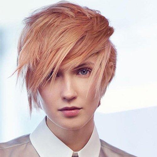 acconciatura capelli corti biondi e rossi
