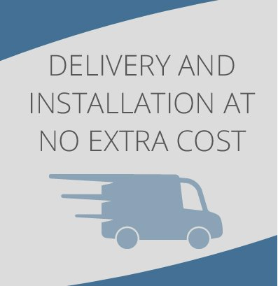 Delivery and installation at no extra cost