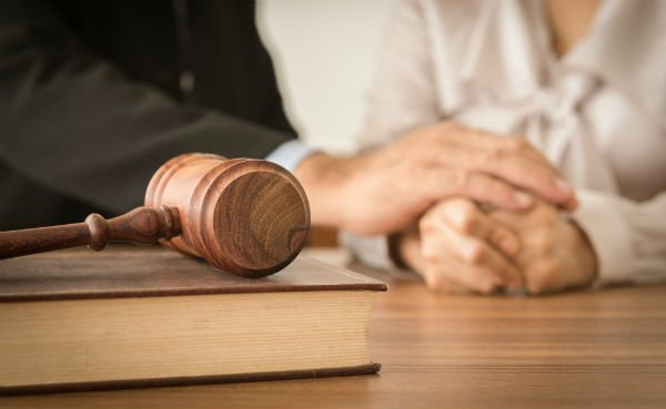 Lawyer provide legal advice and consoling to his clients