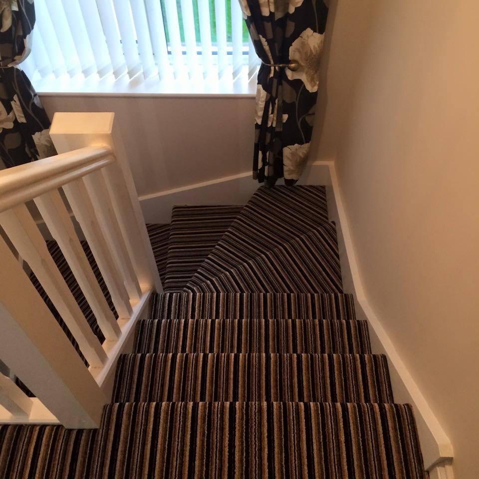 cream coloured staircase railings
