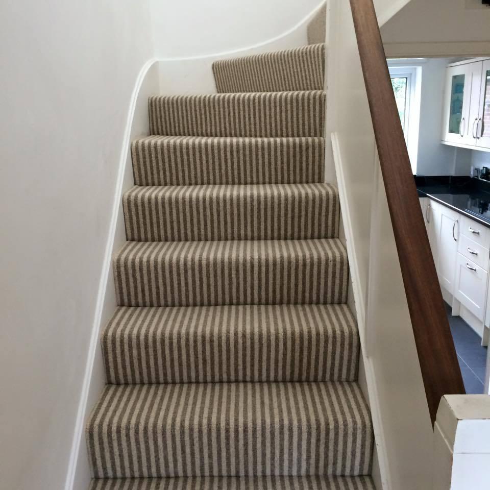staircase next to the kitchen