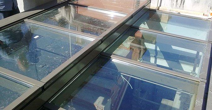 pannello in vetro per facciata