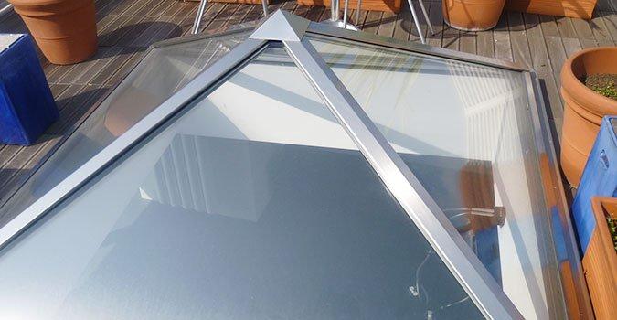 pannelli in vetri per soffitto