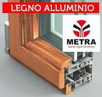 guida in legno alluminio metra