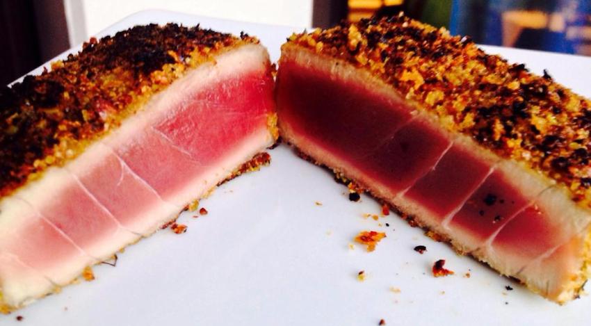filetto di tonno in crosta di pistacchio