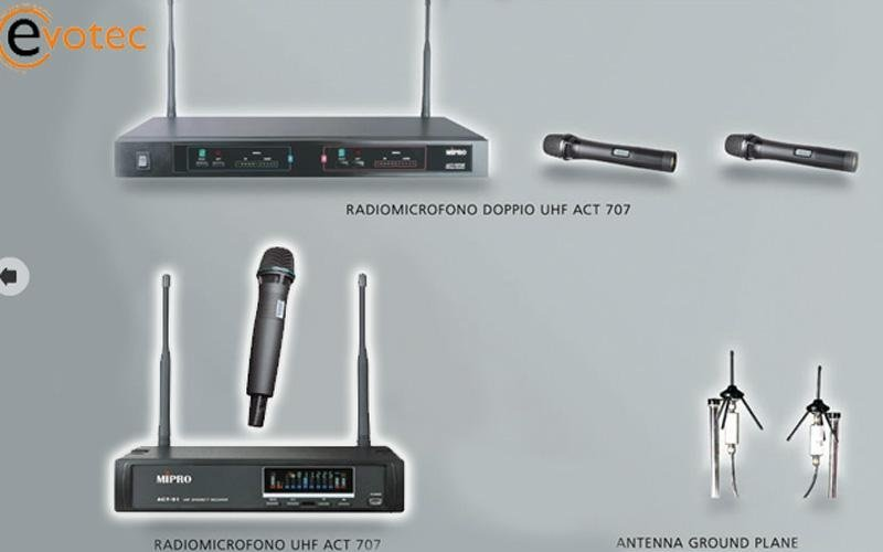 Radiomicrofono con antenna