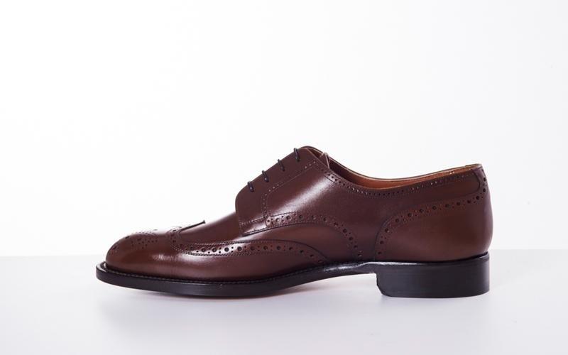 обувь коричневые дерби модена
