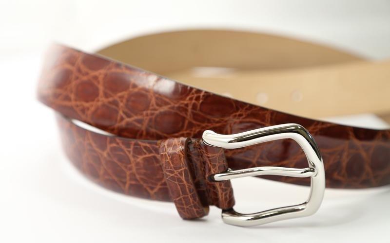Crocodile belt production