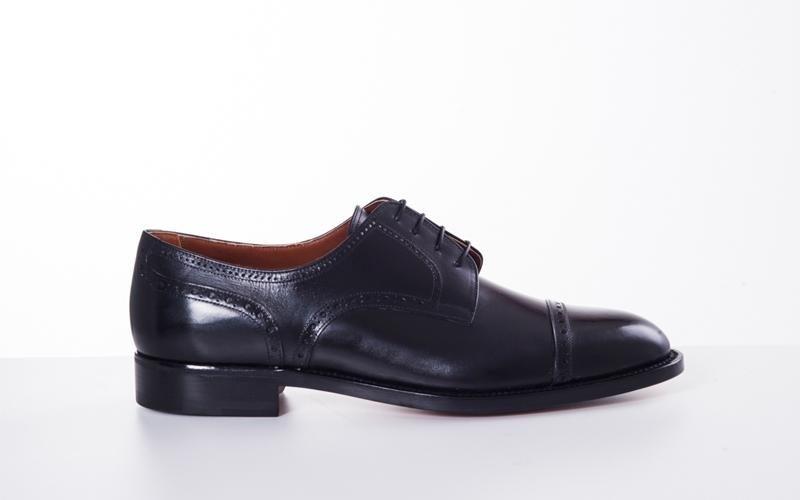обувь черные дерби модена