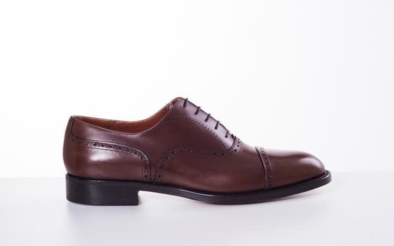 Brown Oxford shoe modena