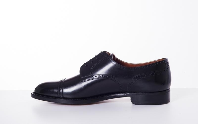 black derby shoe modena