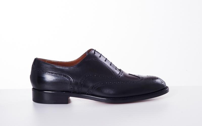 scarpa francesina nera modena