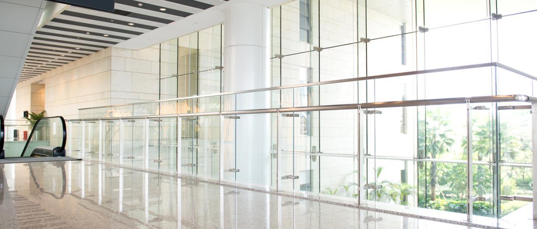 parete in vetro di un edificio