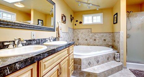 quartz stone bathroom