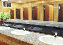 washbasin and mirrors