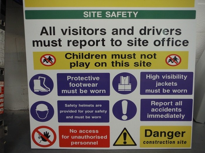visitor safety board