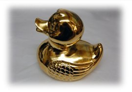 Gold plated duck