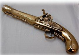 Gold plated gun