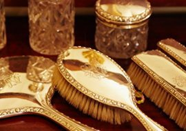 Gold plated brush