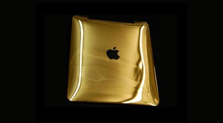 Gold plated phone case
