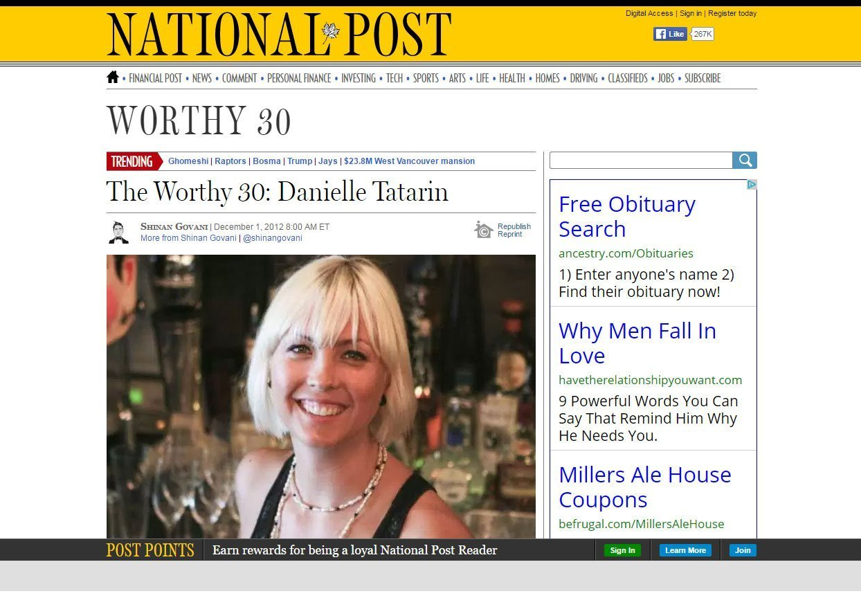 National's article on the bar