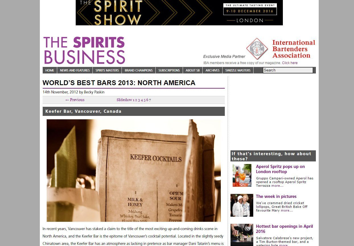 Article on the bar