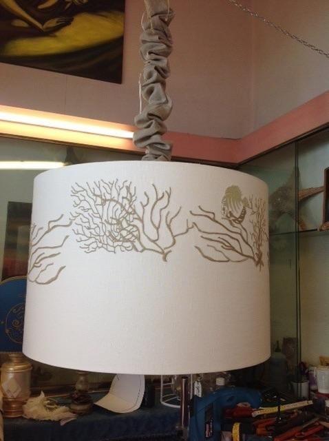 decorazione ricamata lampada