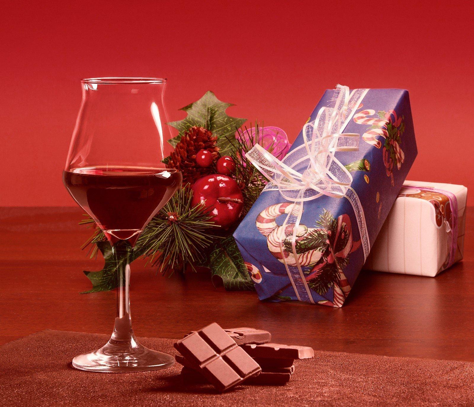 Cioccolato,vino e dettagli di natale