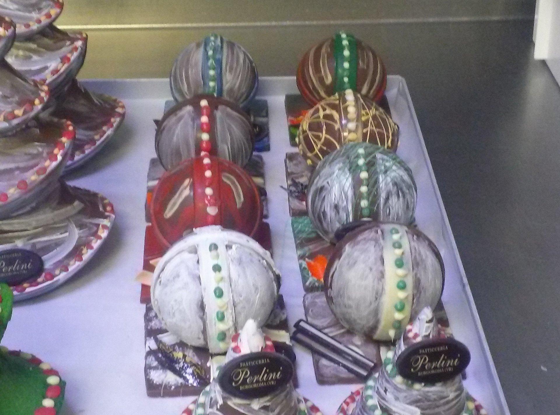 Primo piano della decorazione da cioccolato