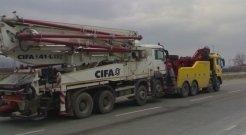 Traino sollevato, con forcone man portata 40 ton