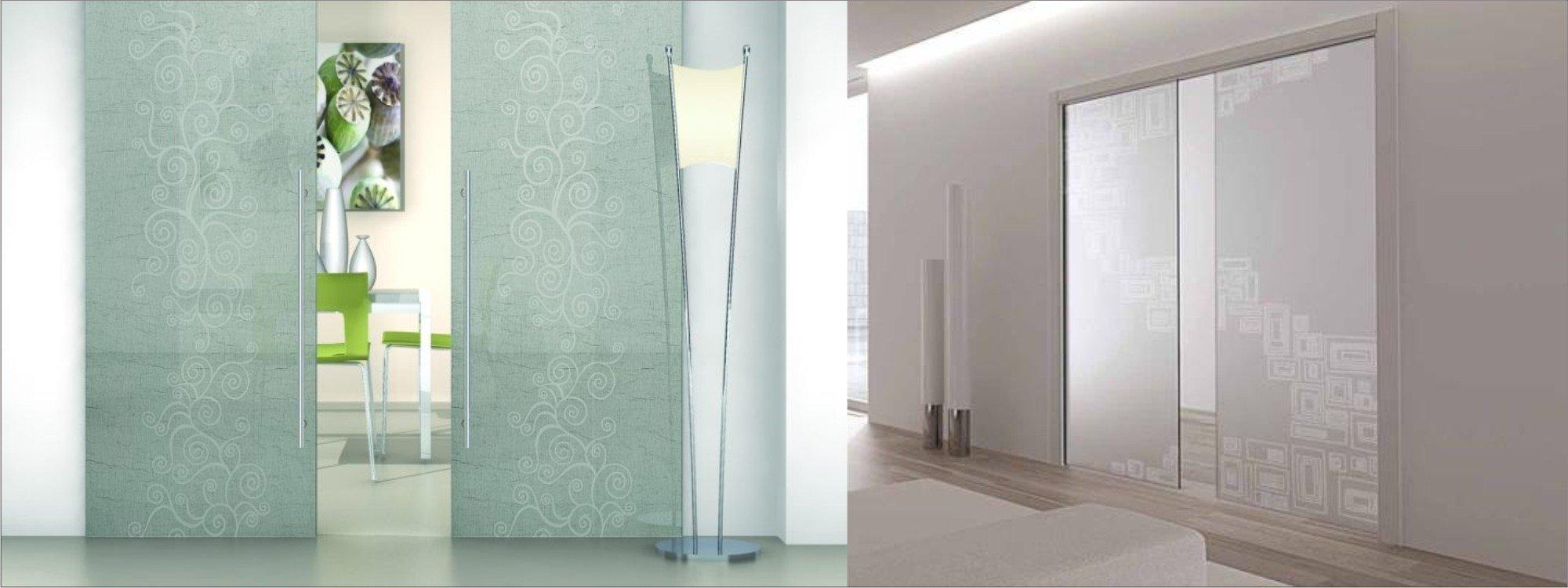 Interni con porte in vetro
