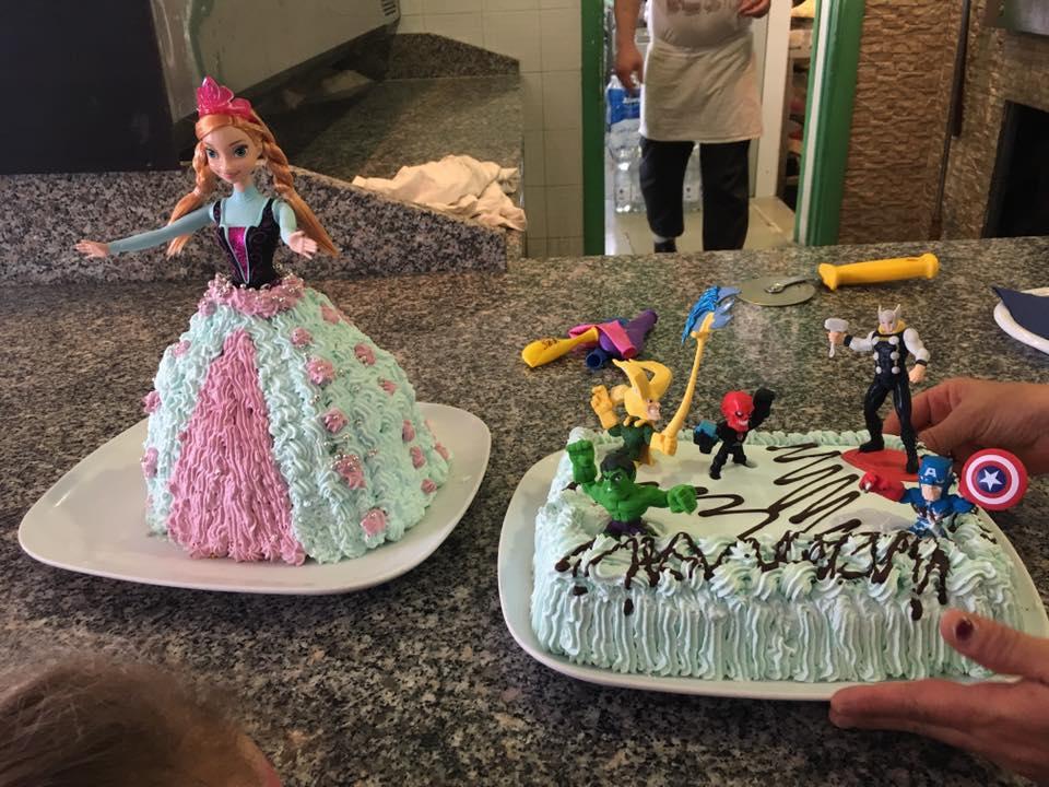 torte per bambini con personaggi dei cartoni