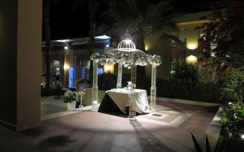 giardino buffet per matrimoni