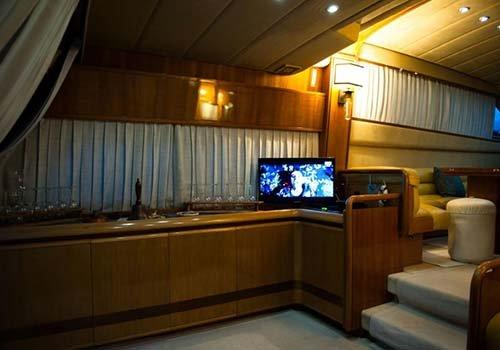 televisione in barca