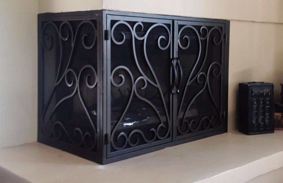 L Shaped Doors Fireplace Doors Marin County Ca