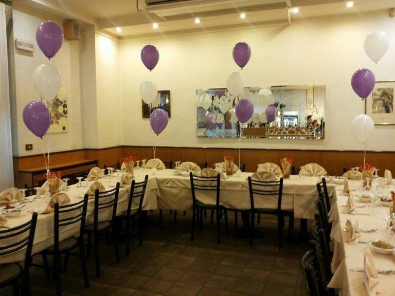 sala ristorante per feste