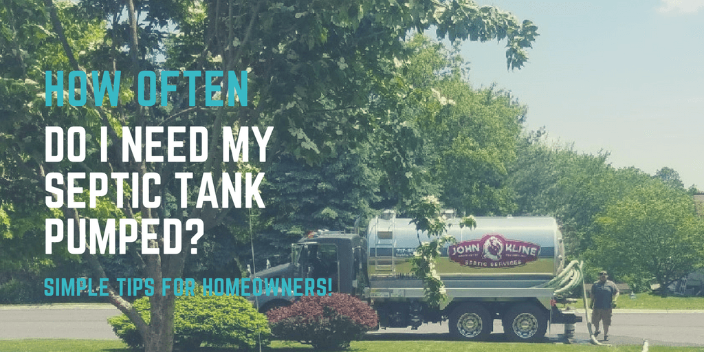 Determing your septic tank pumping frequency with John Kline Septic Services.