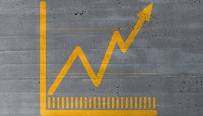 Positive Slope Graph to Symbolize Improving Your Show Marketing ROI