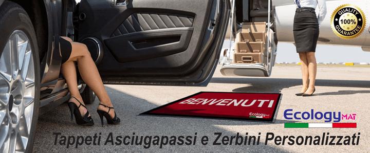 tappeti asciuga passi e zerbizni personalizzati